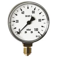 """Μανόμετρο Φ.63 κάθετο 1/4"""" σε mbar"""
