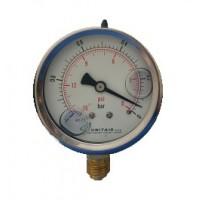 """Κενομετρο UNITAIR Φ.63 κάθετο 1/4"""" γλυκερίνης"""