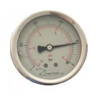 """Κενομετρο UNITAIR Φ.63 οριζόντιο 1/4"""" γλυκερίνης"""