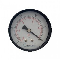 """Κενομετρο UNITAIR  Φ.40 οριζόντιο 1/8"""""""