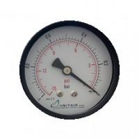"""Κενόμετρο UNITAIR Φ.63 οριζόντιο 1/4"""""""
