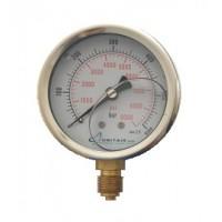 """Μανόμετρο UNITAIR Φ.100 κάθετο 1/2"""" γλυκερίνης"""