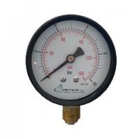 """Μανόμετρο UNITAIR Φ.63 κάθετο 1/4"""" απλό"""