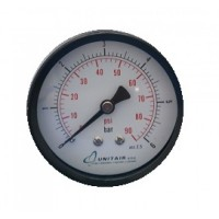 """Μανόμετρο UNITAIR Φ.40 οριζόντιο 1/8"""" απλό"""